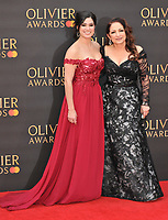Christie Prades and Gloria Estefan at the Olivier Awards 2019, Royal Albert Hall, Kensington Gore, London, England, UK, on Sunday 07th April 2019.<br /> CAP/CAN<br /> ©CAN/Capital Pictures