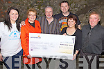 Raising Funds - Geraldine McElligot from Blennerville, a former patient of Cork University Hospital presenting a cheque for EUR10,200 to Imelda Reynolds of Friends of Ward 2D at a fundraising Pub Quiz held in Quane's Bar Blennerville on Saturday night. Geraldine along with family and friends raised the money with the quiz, a raffle and packing bags in Tescos. Pictured l/r Muireann, Geraldine, Willie and John McElligot, Imelda Reynolds (Chairperson of Ward 2D) and John Reynolds......................................................................................................................................................................................................................................................................................................... ............