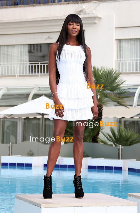 "Naomi Campbell during a photocall for  "" The Face "" at Mipcom in Cannes, France. October 8, 2013."