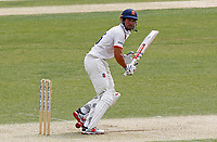 Sir Alastair Cook of Essex watches the ball travel to the boundary during Essex CCC vs Surrey CCC, Bob Willis Trophy Cricket at The Cloudfm County Ground on 8th August 2020