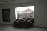 Window lava flow Fundación César Manrique, Taro de Tahíche, Lanzarote, Canary islands, Spain