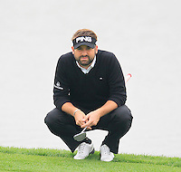 Matthew Baldwin (ENG) on the 13th green during Sunday's Final Round of the 2014 BMW Masters held at Lake Malaren, Shanghai, China. 2nd November 2014.<br /> Picture: Eoin Clarke www.golffile.ie