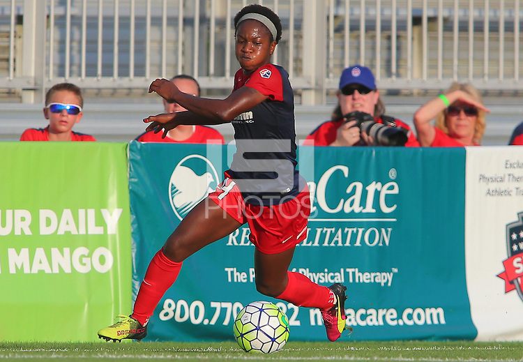 Boyds, MD - Saturday July 09, 2016: Francisca Ordega during a regular season National Women's Soccer League (NWSL) match between the Washington Spirit and the Chicago Red Stars at Maureen Hendricks Field, Maryland SoccerPlex.