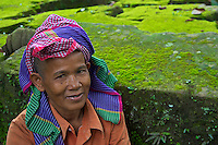 traditional Khmer women with khmer scarf Preah Khan Temple Siem Reap,Cambodia