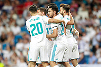 Real Madrid's players celebrate goal during Santiago Bernabeu Trophy. August 23,2017. (ALTERPHOTOS/Acero) /NortePhoto.com