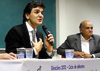 SÃO PAULO,SP,30 JULHO - 2012 - CHALITA ELEIÇÕES<br /> O candidato a prefeitura de São Paulo Gabriel Chalita Participacipou  na tarde de hoje do ciclo de debates 'A Engenharia e a Cidade'. na Rua Genebra, 25, República, São Paulo/SP.FOTO ALE VIANNA - BRAZIL PHOTO PRESS