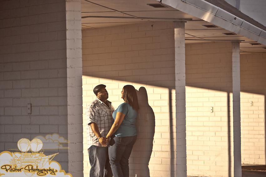 Christinia Lewis and Trevor DeLaney during an engagement session on Sunday, October 2, 2011, in downtown Sanford, FL (Chad Pilster for Pilster Photography http://www.PilsterPhotography.net)