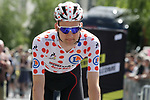 Polka Dot Jersey holder Tim Wellens (BEL) Lotto-Soudal arrives at sign on before the start of Stage 4 of the 2019 Tour de France running 213.5km from Reims to Nancy, France. 9th July 2019.<br /> Picture: Colin Flockton | Cyclefile<br /> All photos usage must carry mandatory copyright credit (© Cyclefile | Colin Flockton)