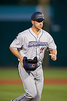 Jacksonville Jumbo Shrimp manager Kevin Randel (11) during a Southern League game against the Mobile BayBears on May 7, 2019 at Hank Aaron Stadium in Mobile, Alabama.  Mobile defeated Jacksonville 2-0.  (Mike Janes/Four Seam Images)