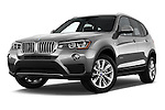 Stock pictures of low aggressive front three quarter view of 2017 BMW X3 sDrive28i 5 Door SUV Low Aggressive