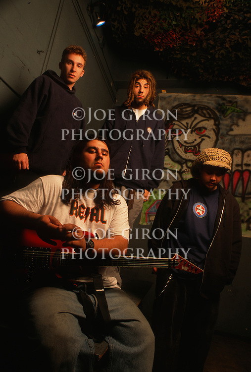 Various portrait sessions of the rock band, Def Tones