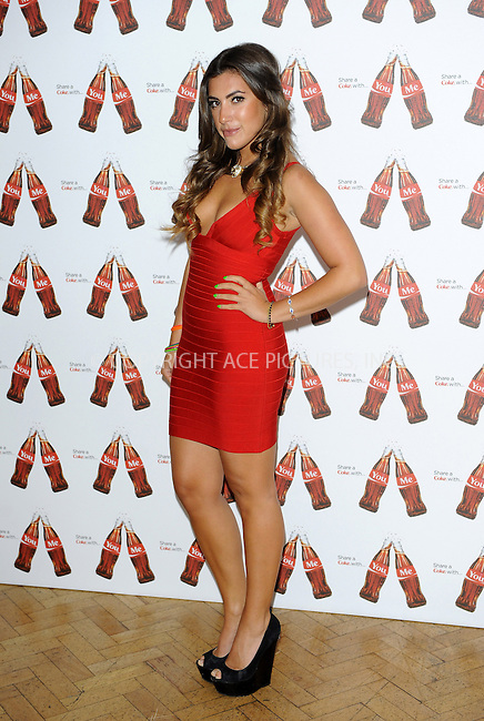 WWW.ACEPIXS.COM....US Sales Only....May 9 2013, London....Gabriella Ellis at the launch of Coca-Cola's Share a Coke campaign at One Marylebone on May 9 2013 in London....By Line: Famous/ACE Pictures......ACE Pictures, Inc...tel: 646 769 0430..Email: info@acepixs.com..www.acepixs.com
