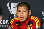 20 November 2009: Goalkeeper Nick Rimando during the press conference. Real Salt Lake held a training session and press conference at Qwest Field in Seattle, Washington in preparation for playing the Los Angeles Galaxy in Major League Soccer's championship game, MLS Cup 2009, two days later.