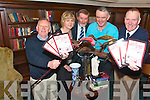AUCTION:  Members of the Killarney Rugby Football Club are planning an auction at the end of the month to raise more funds for their new EUR1m pitch. From l-r were: Mick Leahy, Anne Clifford, Mike Walker, Liam McGuire and Junior Finnegan.