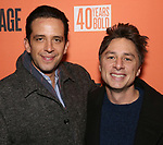 "Nick Cordero and Zach Braff attends the Second Stage Production of ""Days Of Rage"" at Tony Kiser Theater on October 30, 2018 in New York City."