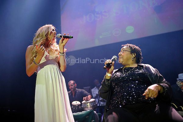 LONDON, ENGLAND - MAY 15: Joss Stone and Jocelyn Brown performing at Camden Roundhouse on May 15, 2016 in London, England.<br /> CAP/MAR<br /> &copy;MAR/Capital Pictures /MediaPunch ***NORTH AMERICA AND SOUTH AMERICA ONLY***