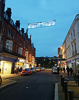 BNPS.co.uk (01202 558833)<br /> Pic: MaddieBlew/BNPS<br /> <br /> Old Christchurch Road in Bournemouth - three strands of light of which only two are working...<br /> <br /> Are these Britain's worst Christmas lights?<br /> <br /> Traders have slammed a council's 'horrible' Christmas lights on a high street at a seaside resort.<br /> <br /> The underwhelming display features three sorry strands of lights which hang above a road in Bournemouth, Dorset.<br /> <br /> They say that one of the strands of lights, which are nearly 20 years old, does not work.<br /> <br /> Shop owners on the stretch of road have labelled them 'unacceptable' in light of the hefty business rates they pay to Bournemouth, Christchurch and Poole Council (BCP).