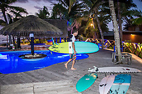 Namotu Island Resort, Nadi, Fiji (Monday, May 14th 2018): The swell had improved over night to around 3' . Despite the size Cloudbreak and Namotu Lefts were still the pick of the spots with very light winds and a dropping tide. <br /> Swimming Pools had a small window of waves early in the afternoon. Photo: joliphotos.com