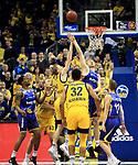 12.02.2019, Mercedes Benz Arena, Berlin, GER, ALBA ERLIN vs.  Basketball Loewen Braunschweig, <br /> im Bild <br /> Niels Giffey (ALBA Berlin #5), Lars Lagerpusch (Braunschweig #44)<br /> <br />      <br /> Foto &copy; nordphoto / Engler