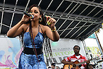 MIAMI, FL - JULY 25: Mýa and Moses Pierre performs during the Overtown Music and Arts Festival at the historic Overtown district of Miami on Saturday July 25, 2015 in Miami, Florida. ( Photo by Johnny Louis / jlnphotography.com )