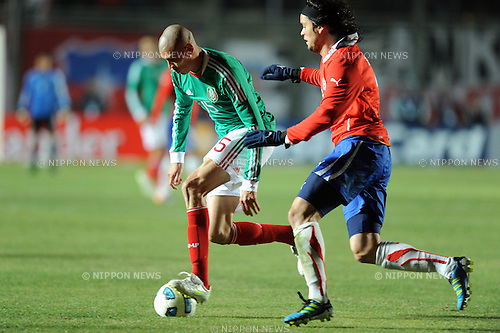 Jorge Enriquez (MEX),JULY 4, 2011 - Football :Copa America Argentina 2011 Group C match between Chile 2-1 Mexico at Bicentenarium Stadium in San Juan, Argentina. (Photo by aicfoto/AFLO)
