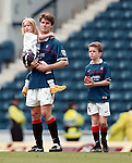 Brian Laudrup bids farewell to Rangers with his kids on the Ibrox pitch after defeat by Kilmarnock at home