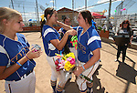 Wildcats honor graduating sophomore Nicole Lesniak at Edmonds Sports Complex Carson City, Nev., on Saturday, May 2, 2015.<br /> Photo by Cathleen Allison