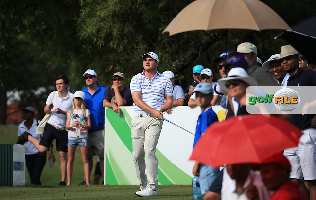 Zander Lombard (RSA) in action playing to the last hole during the Final Round of the 2016 Tshwane Open, played at the Pretoria Country Club, Waterkloof, Pretoria, South Africa.  14/02/2016. Picture: Golffile | David Lloyd<br /> <br /> All photos usage must carry mandatory copyright credit (&copy; Golffile | David Lloyd)