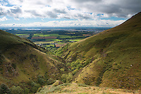 Mill Glen, The River Forth and the Forth Valley from The Law, the Ochil Hills, Tillicoultry, Clackmannanshire