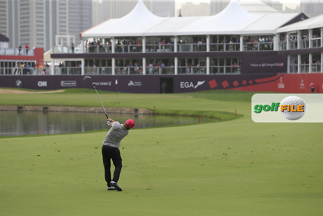 Andy Sullivan (ENG) on the 9th during Round 2 of the Omega Dubai Desert Classic, Emirates Golf Club, Dubai,  United Arab Emirates. 25/01/2019<br /> Picture: Golffile | Thos Caffrey<br /> <br /> <br /> All photo usage must carry mandatory copyright credit (© Golffile | Thos Caffrey)