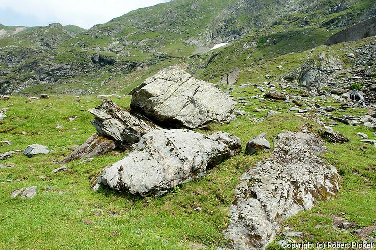 Limestone Rocks, Fagaras Mountains, Transylvanian Carpathians Alps, Romania