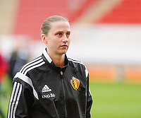 20160408 - ROTHERHAM , ENGLAND : Belgian Heleen Jaques pictured during the female soccer game between England and The Belgian Red Flames - Belgium , the fourth game in the qualification for the European Championship in The Netherlands 2017  , Friday 8 th April 2016 at AESSEAL New York Stadium in Rotherham , England . PHOTO DAVID CATRY