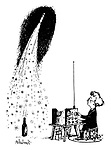 (A young boy guides his bottle rocket via radio control)