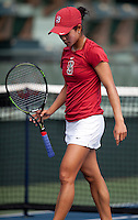 STANFORD, CA - April 14, 2011: Hilary Barte of Stanford women's tennis during Stanford's dual against St. Mary's. Stanford won 6-1. Barte defeated Alex Poorta 6-0, 6-3.