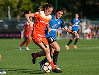 Kansas City, MO - Sunday July 02, 2017:  Janine Beckie and Christina Gibbons battle for the ball during a regular season National Women's Soccer League (NWSL) match between FC Kansas City and the Houston Dash at Children's Mercy Victory Field.
