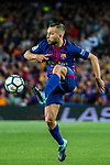 Jordi Alba Ramos of FC Barcelona in action during the La Liga match between FC Barcelona vs RCD Espanyol at the Camp Nou on 09 September 2017 in Barcelona, Spain. Photo by Vicens Gimenez / Power Sport Images