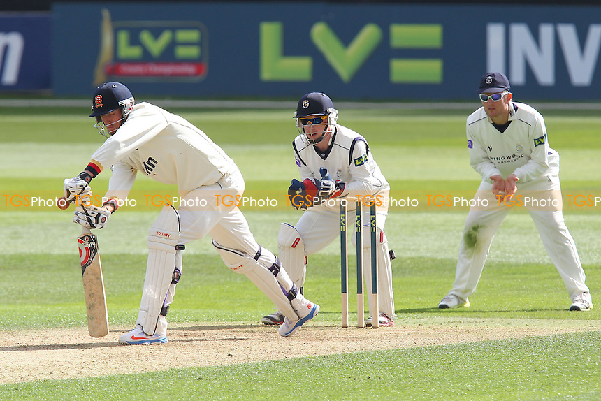 Reece Topley in batting action for Essex - Essex CCC vs Hampshire CCC - LV County Championship Division Two Cricket at the Essex County Ground, Chelmsford - 30/04/13 - MANDATORY CREDIT: Gavin Ellis/TGSPHOTO - Self billing applies where appropriate - 0845 094 6026 - contact@tgsphoto.co.uk - NO UNPAID USE.