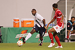 13 March 2008: Marvell Wynne (USA) (2) passes a ball in front of a Panama defender. The United States U-23 Men's National Team defeated the Panama U-23 Men's National Team 1-0 at Raymond James Stadium in Tampa, FL in a Group A game during the 2008 CONCACAF's Men's Olympic Qualifying Tournament.