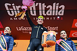 Race leader Maglia Rosa Simon Yates (GBR) Mitchelton-Scott wins Stage 15 of the 2018 Giro d'Italia, running 156km from Tolmezzo to Sappada, Italy. 20th May 2018.<br /> Picture: LaPresse/Gian Mattia D'Alberto | Cyclefile<br /> <br /> <br /> All photos usage must carry mandatory copyright credit (&copy; Cyclefile | LaPresse/Gian Mattia D'Alberto)