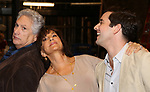 """Harvey Fierstein, Mercedes Reuhl and Michael Urie attends the Broadway cast photo call for """"Torch Song"""" at the Hayes Theatre on September 20, 2018 in New York City."""