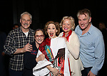John Dossett, Patti Lupone, Joanna Glushak, Christine Ebersole and Douglas Sills during the Actors' Equity Gypsy Robe honoring Joanna Glushak for 'War Paint' at the Nederlander Theatre on April 6, 2017 in New York City