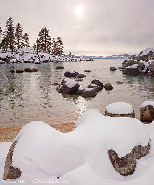 Fresh Snow, Sand Harbor