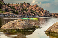 Watson Lakeis one of tworeservoirsat theGranite Dells, inPrescott, Arizona, that was formed in the early 1900s when the Chino Valley Irrigation District built a dam onGranite Creek.  TheGranite Dellsis a geological feature north ofPrescott, Arizona. The Dells consist of exposed bedrock and large boulders of granite that have eroded into an unusual lumpy, rippled appearance.