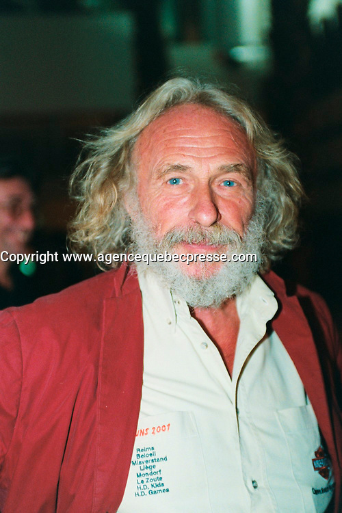 Aug 26, 2002, Montreal, Quebec, Canada<br /> <br /> French actor Pierre Richard, finishing ROBINSON CRUSOE, inside shots at Mel's studio in Montreal, Canada, attend the Alliance-Atlantis ``montreal Film Festival`` party, august 26, 2002<br /> <br /> Mandatory Credit: Photo by Michl Karpoffl- Images Distribution. (&copy;) Copyright 2002 byMichel Karpoff<br /> <br /> NOTE :  negative scanned,  saved as Adobe RGB 1998 Color space