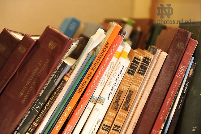 Architecture books..Photo by Matt Cashore/University of Notre Dame