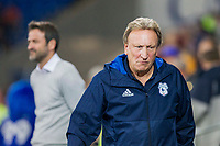 Cardiff City manager Neil Warnock during the Sky Bet Championship match between Cardiff City and Leeds United at the Cardiff City Stadium, Cardiff, Wales on 26 September 2017. Photo by Mark  Hawkins / PRiME Media Images.
