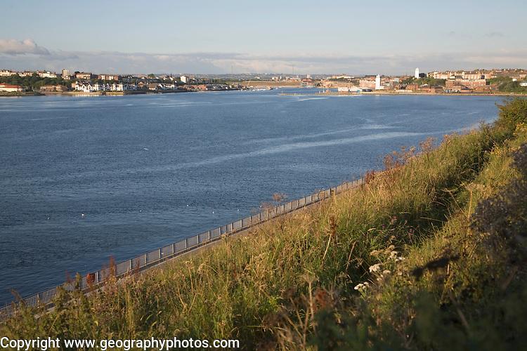 River Tyne at Tynemouth, Northumberland, England