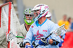 Costa Mesa, CA 06/08/13 - unidentified Team STX player(s) and unidentified Team Maverik player(s) in action during the inaugural game of the LXMPRO Tour in Orange County.  The Team STX defeated Team Maverik 14-13 at Orange Coast College's Bard Stadium.