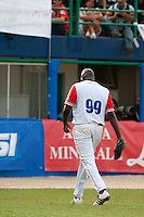 27 September 2009: Pedro Lazo of Cuba walks back to the dugout during the 2009 Baseball World Cup gold medal game won 10-5 by Team USA over Cuba, in Nettuno, Italy.