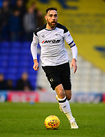 Richard Keogh of Derby during the Sky Bet Championship match between Birmingham City and Derby County at St Andrews, Birmingham, England on 13 January 2018. Photo by Bradley Collyer / PRiME Media Images.